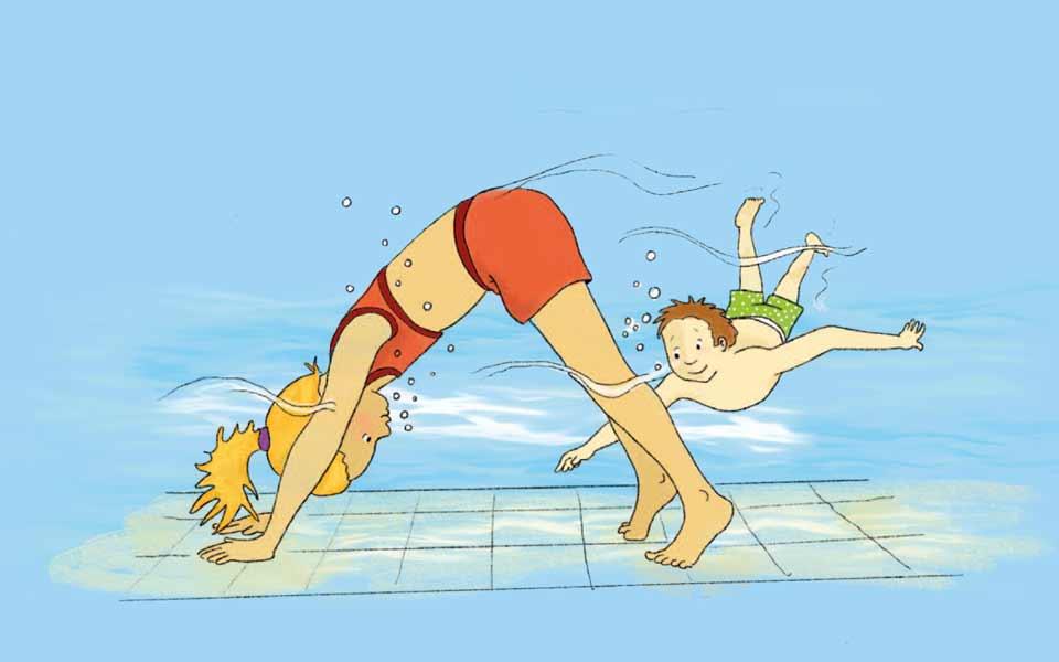 Springen – Spielen – Tauchen: Ab ins Wasser!